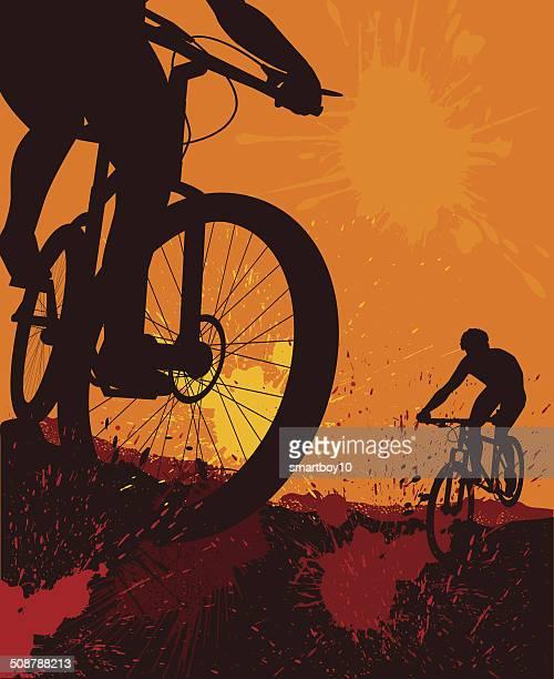 ilustrações de stock, clip art, desenhos animados e ícones de bicicletas de montanha - mountain bike