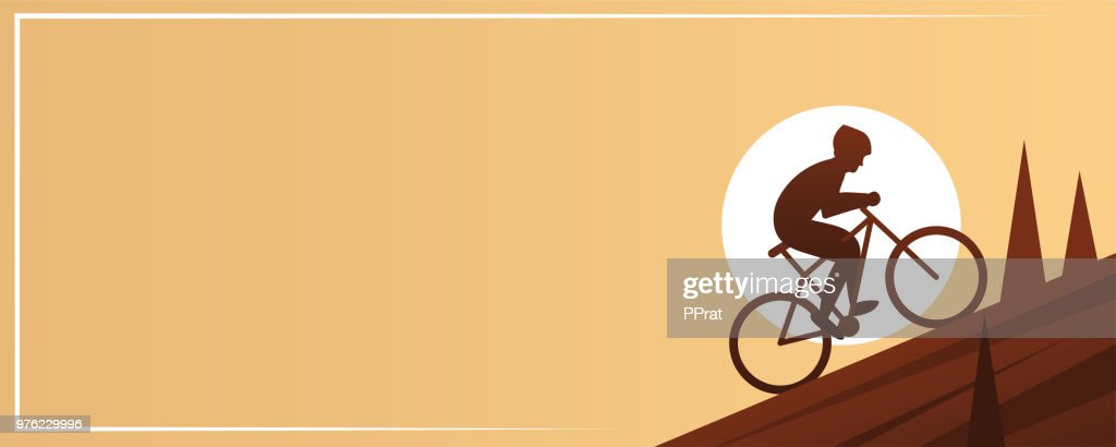 Mountain Biking Action Sport Banner