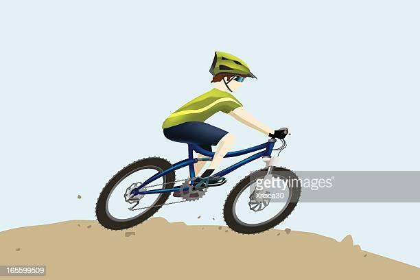 mountain biking - bike helmet stock illustrations, clip art, cartoons, & icons