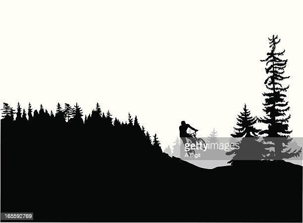 ilustrações de stock, clip art, desenhos animados e ícones de mountainbiking - mountain bike