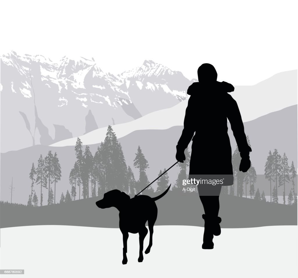 mountain dog walk high res vector graphic getty images https www gettyimages com detail illustration mountain dog walk royalty free illustration 688780592