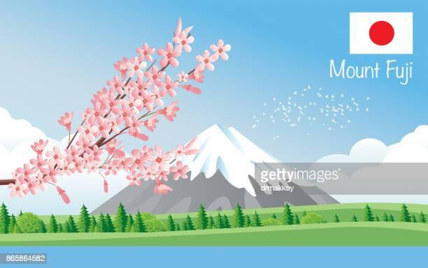 ilustrações, clipart, desenhos animados e ícones de mountain fuji  - mt. fuji