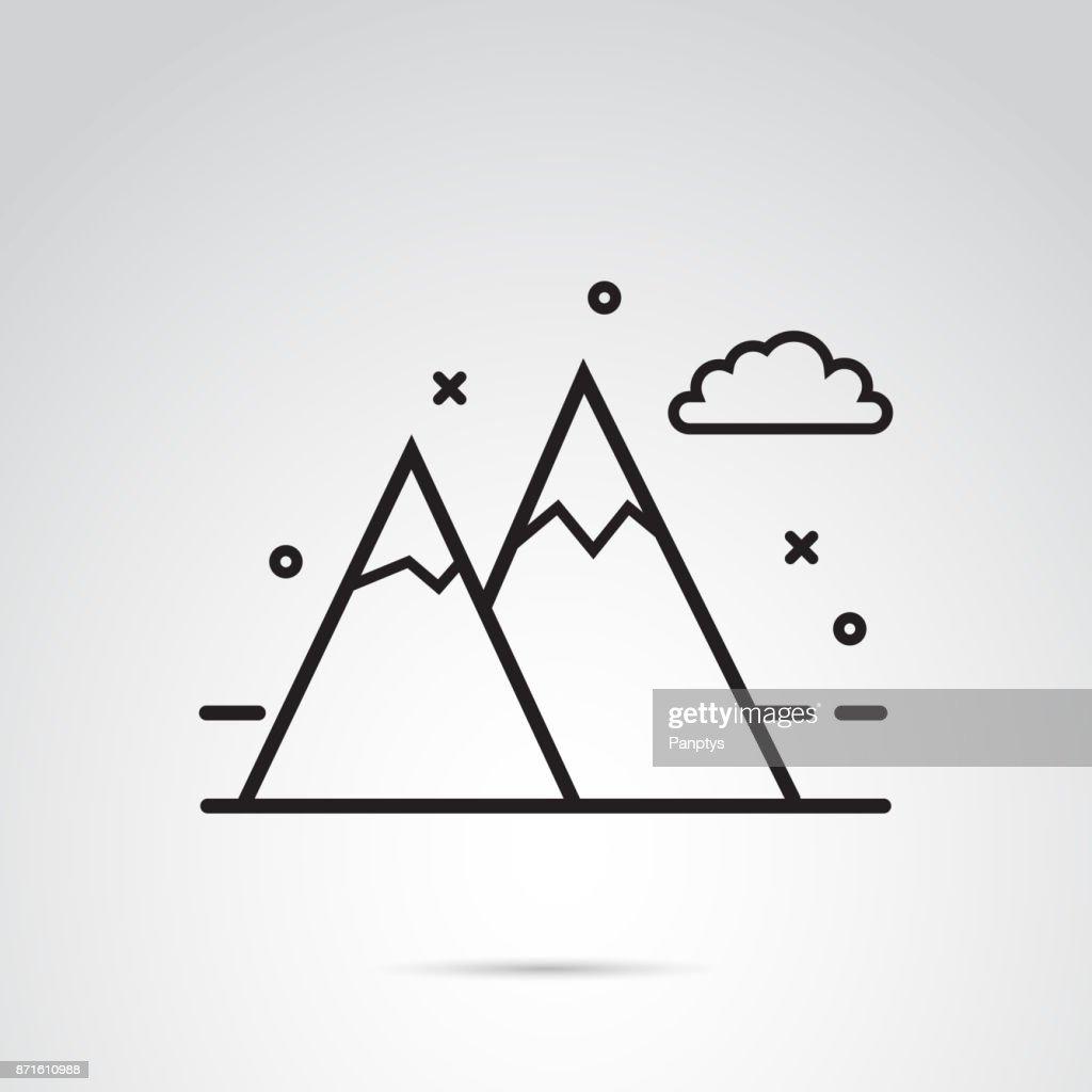 Mountain icon on white background.