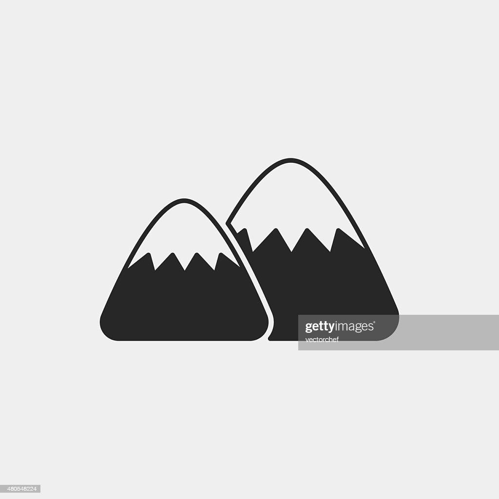 mountain icon : Vector Art
