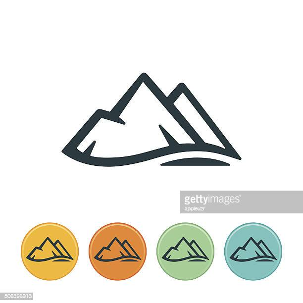 mountain-symbol - berg stock-grafiken, -clipart, -cartoons und -symbole
