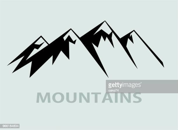 berg-symbol - alpen stock-grafiken, -clipart, -cartoons und -symbole