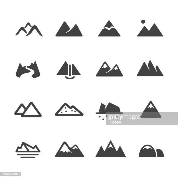 mountain icons - acme series - mountain stock illustrations
