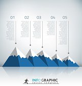 Mountain Infographic Template