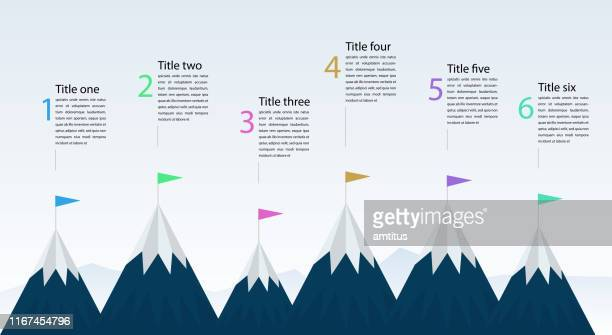mountain infographics - rite of passage stock illustrations
