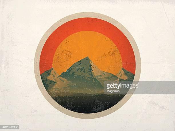 Mountain Landschaft bei Sonnenuntergang