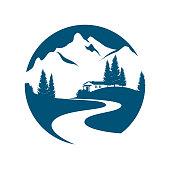 mountain landscape pictogramm