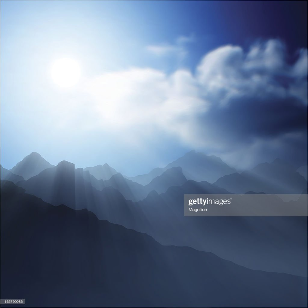 mountain landscape : stock illustration