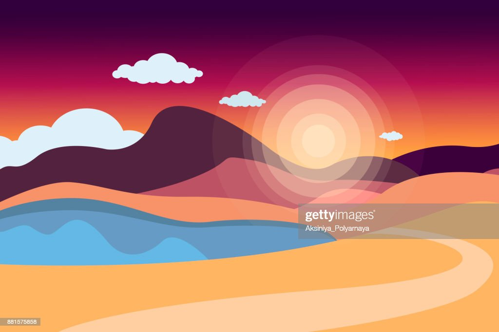 Mountain Landscape With A Lake And A Road Sky With Clouds Summer Nature Travel Outdoor Activities Outdoor Sports Vacation Flat Style Vector Illustration High Res Vector Graphic Getty Images,Pink Baby Shower Nail Designs
