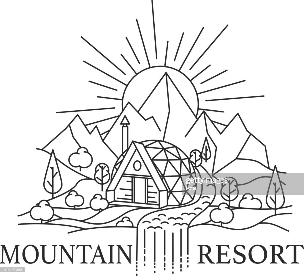mountain landscape with Dome house