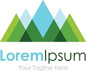 Mountain nature eco landscape view element icon logo for business