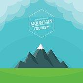 Mountain nature landscape background. Vector illustration.