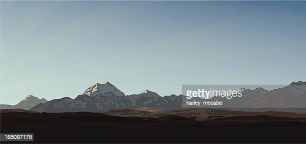 山のパノラマ - 離れた点のイラスト素材/クリップアート素材/マンガ素材/アイコン素材