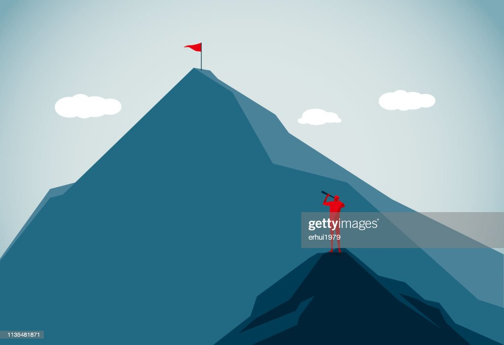 Berggipfel : Stock-Illustration