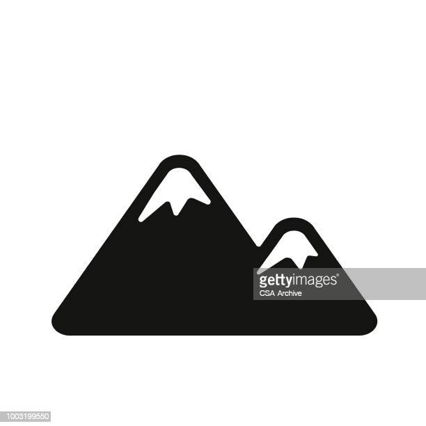 mountain peaks - mountain logo stock illustrations