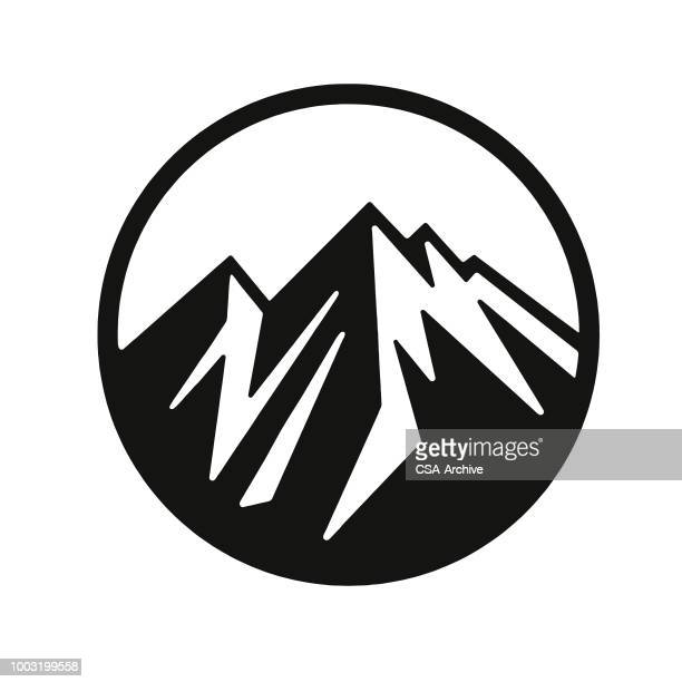 mountain peaks - mountain stock illustrations