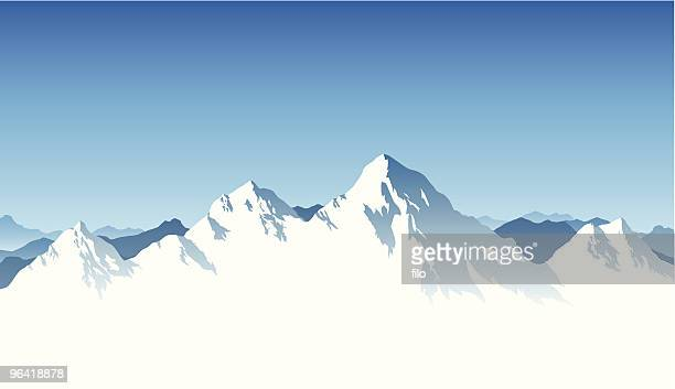mountain range background - summit stock illustrations