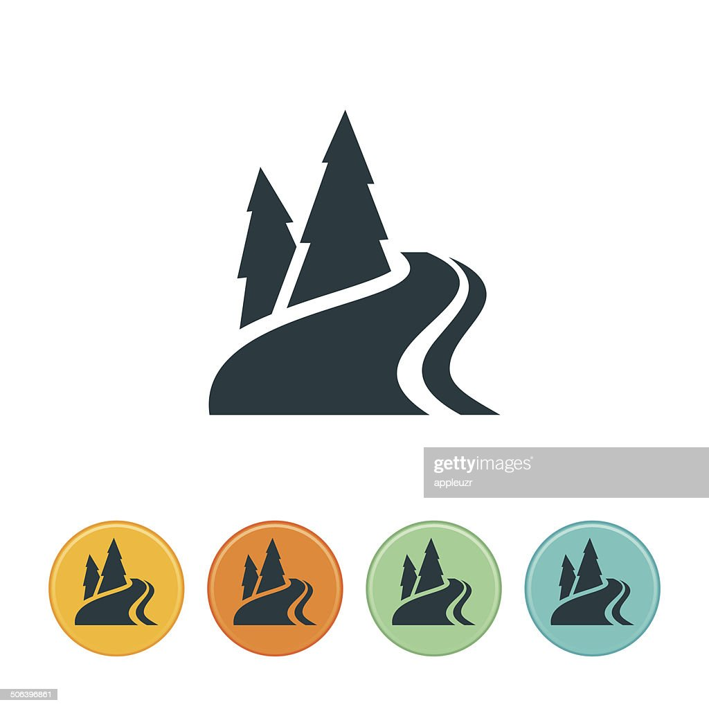 mountain river icon vector art getty images