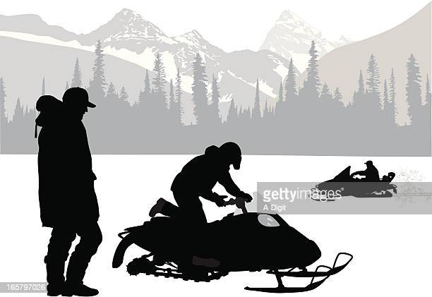 Snowmobiling Stock Illustrations And Cartoons   Getty Images