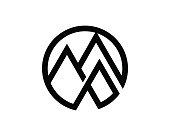 Mountain Symbol Template Design Vector, Emblem, Design Concept, Creative Symbol, Icon