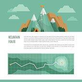 Mountain trekking, hiking, climbing and camping concept.