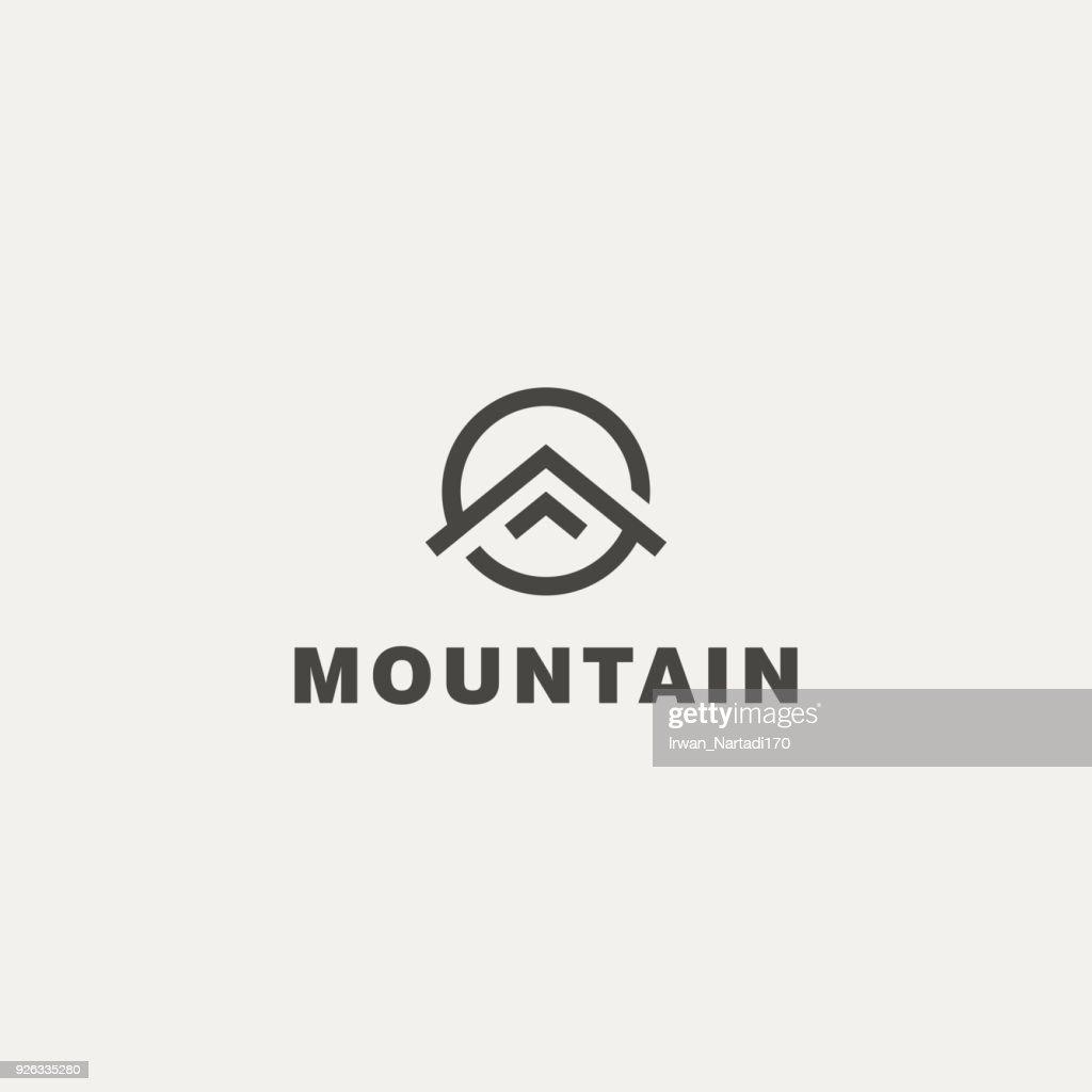 Mountain. Vector icon template