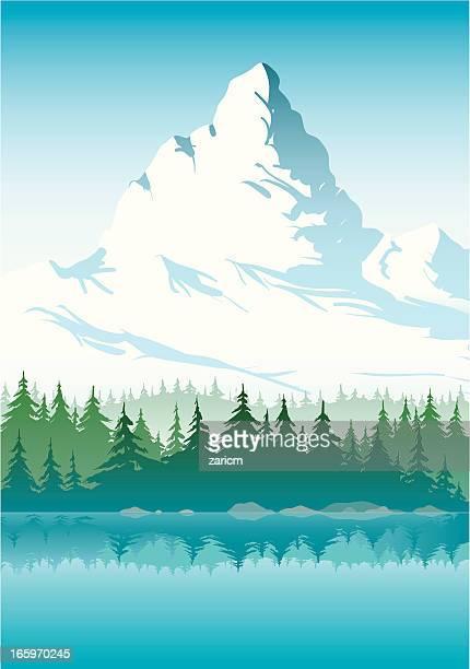 mountain - alpen stock-grafiken, -clipart, -cartoons und -symbole