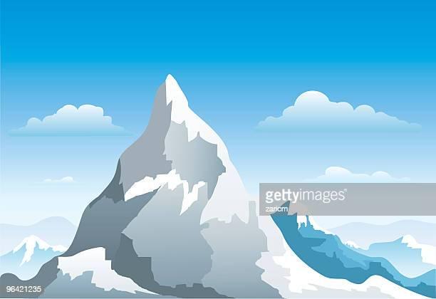 mountain - ski slope stock illustrations, clip art, cartoons, & icons