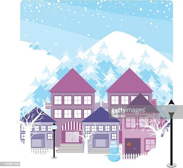 マウンテンヴィレッジ - 山村点のイラスト素材/クリップアート素材/マンガ素材/アイコン素材