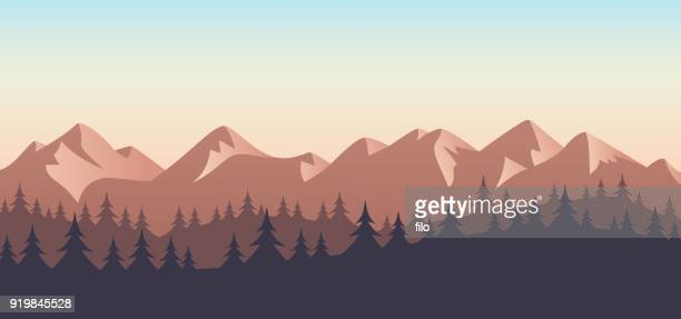 Mountain Wilderness Landscape Background
