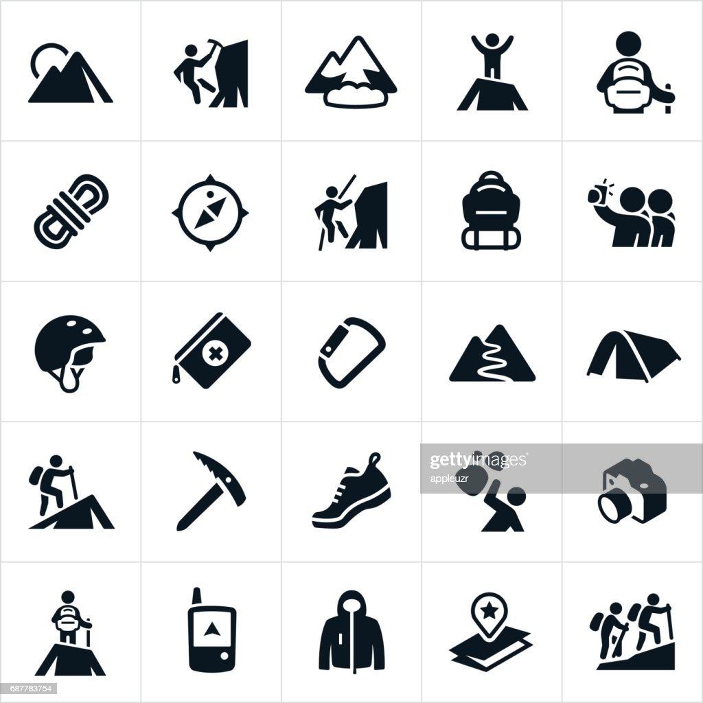 Mountaineering Icons