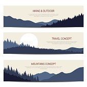 Mountains backgrounds with place for text