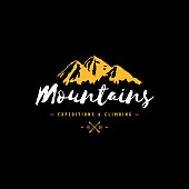 Mountains color sign