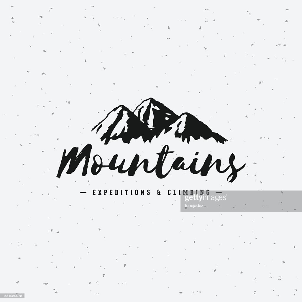 Mountains gray sign