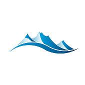 Mountains Image Logo Vector Illustration