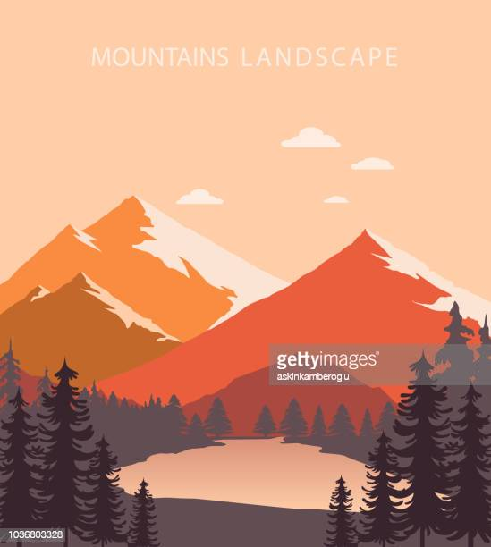 mountains landscape - mountain stock illustrations