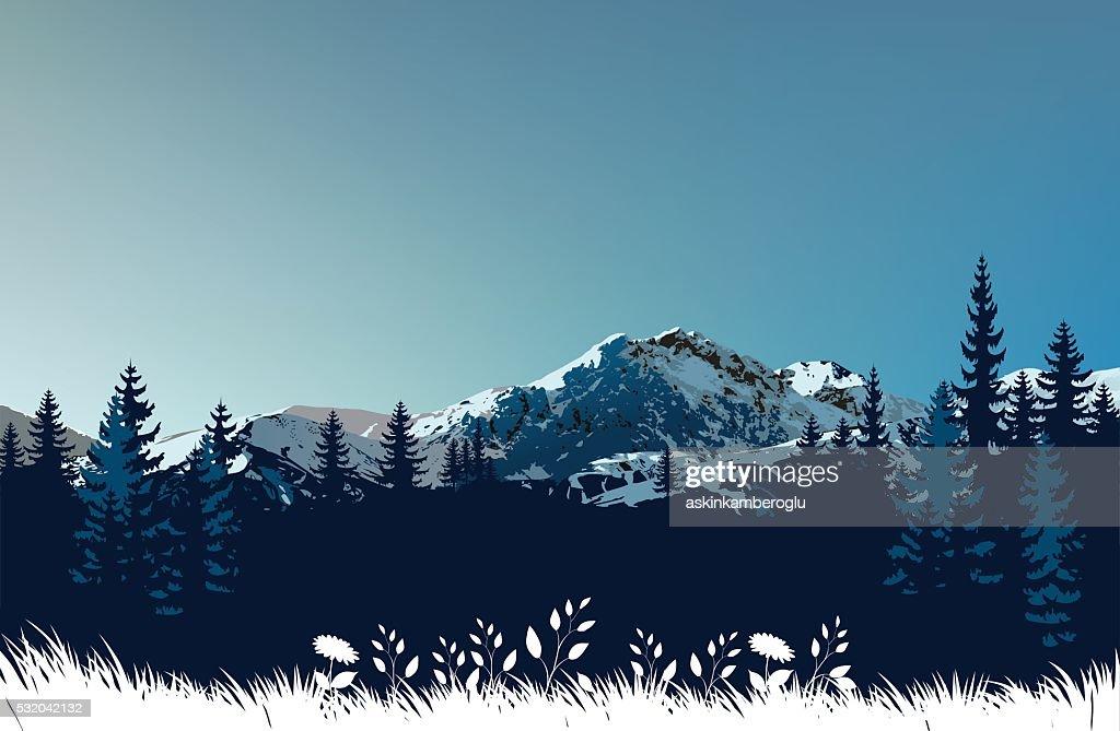Mountains landscape : stock illustration