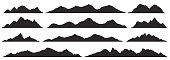 Mountains silhouettes. Vector.