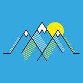 Mountains - Stylized Illustration