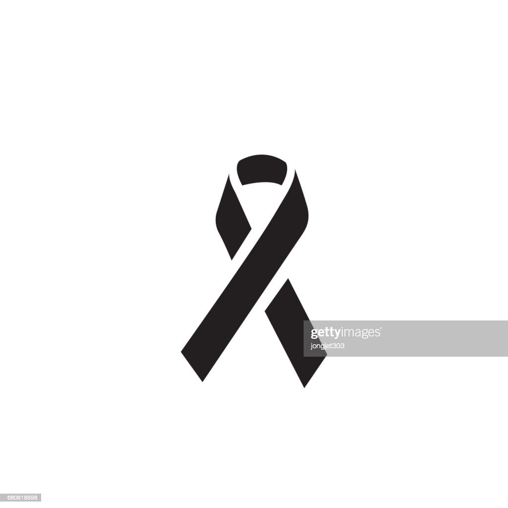 Mourning and melanoma support symbol