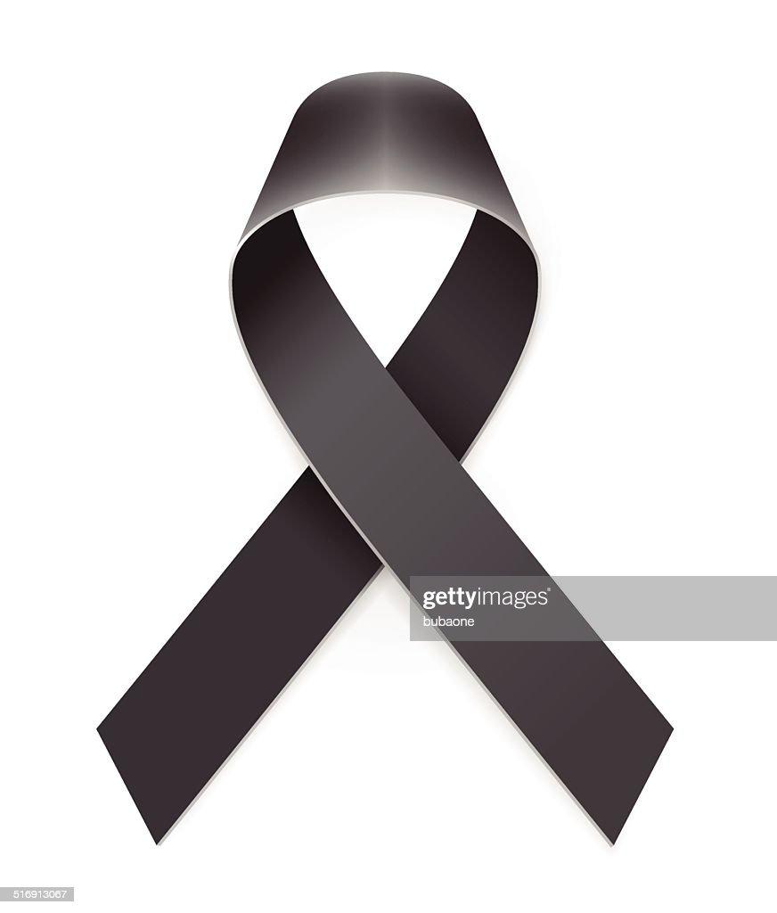 Mourning Black Awareness Ribbon : Vector Art