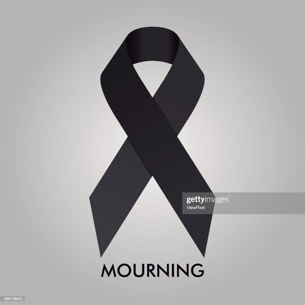 Mourning Ribbon Vector Design Illustration
