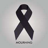 Mourning Ribbon Vector Design Illustration