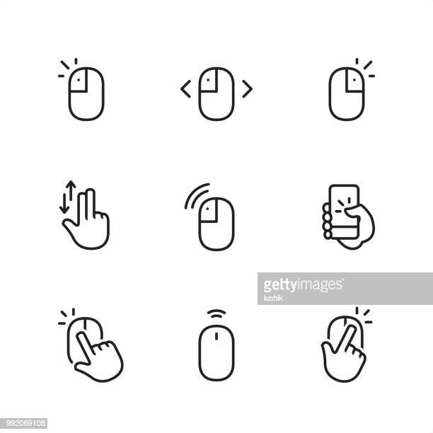 Mouse Click - Pixel Perfect outline icons