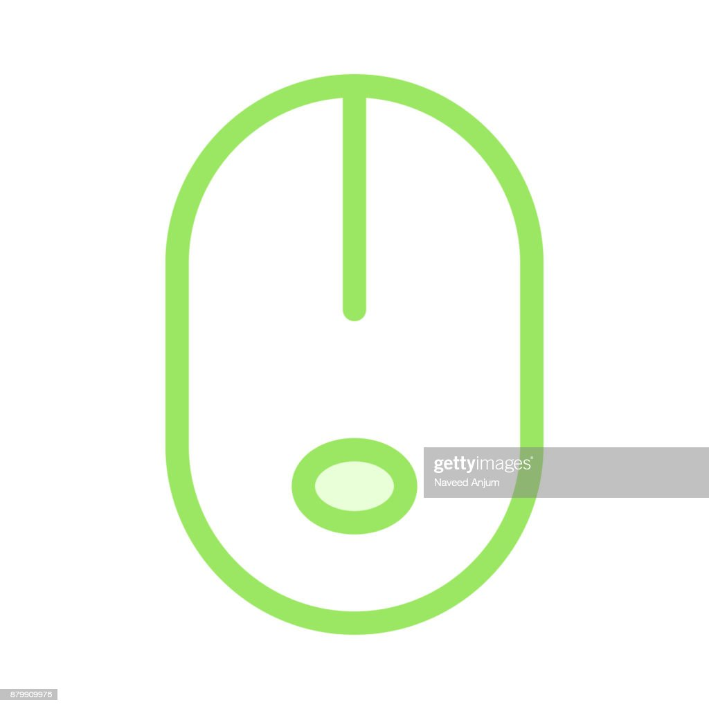 mouse colour line vector icon