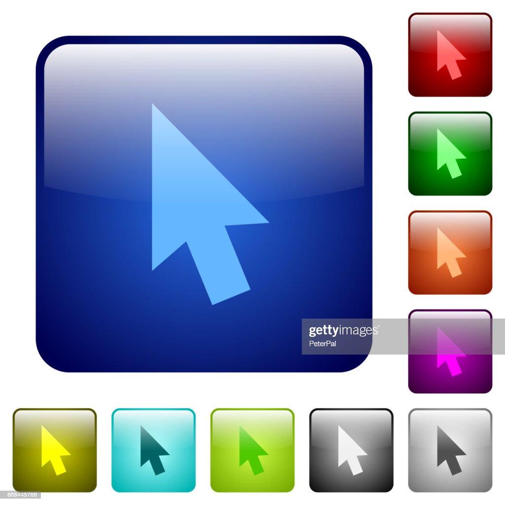 Mouse cursor color square buttons